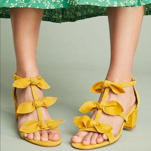 Anthropologie T-strap Bow Heels